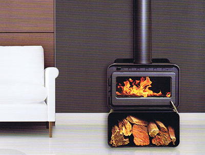 Blaze B100 freestanding radiant wood heater